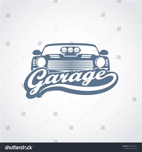 Auto Logo Tuning by Vintage Car Garage Service Logo Muscle Stock Vector