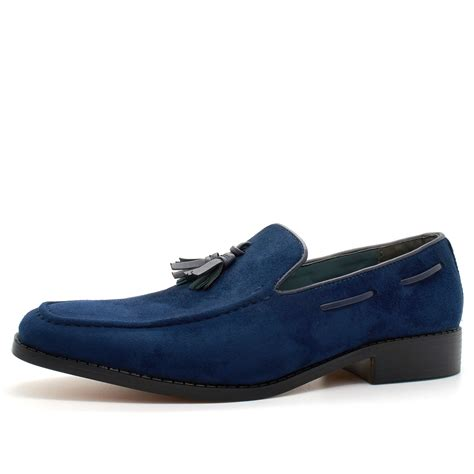 mens casual loafers uk mens new slip on loafers tassel shoes smart casual dress