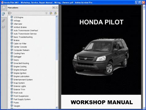 honda pilot mk1 service manual wiring owners