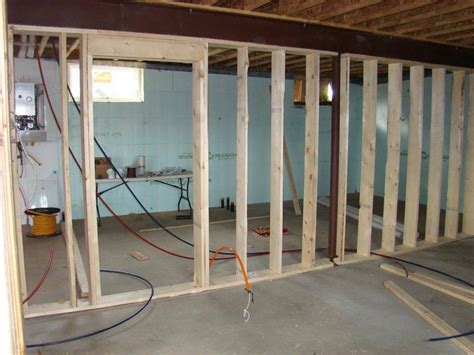 how to repair how to frame walls for basement standard