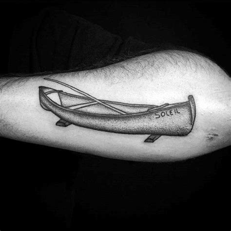 canoe tattoo 40 canoe designs for kayak ink ideas