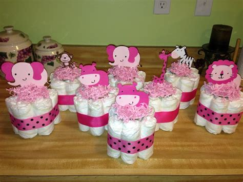 mini diaper cake centerpieces baby stuff pinterest