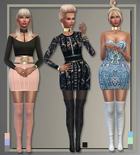 All About Style: Balmain outfits ? Sims 4 Downloads