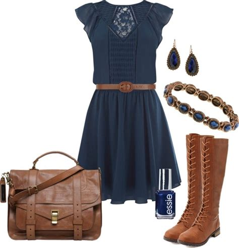 quot navy dress boots quot by elizabethdawes on polyvore