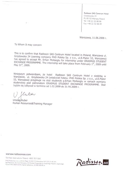 Confirmation Letter Erasmus Adnan Menderes Niversitesi