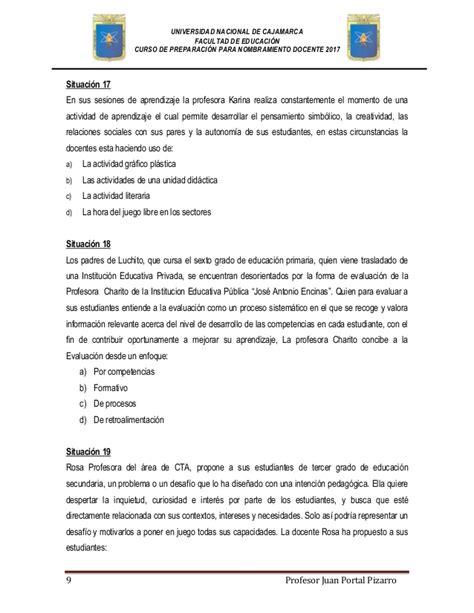 nombramiento de docente 2016 simulacro de examen para nombramiento docente 2017