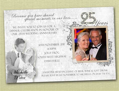 25th wedding anniversary invitation cards designs anniversary invitations anniversary invitations ideas