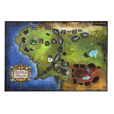 3d map of middle earth lord of the rings map of middle earth 3d puzzle