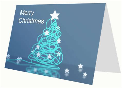 Corporate Style Christmas Card Greeting Card Template Powerpoint