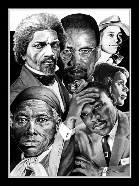 Civil Rights Leaders Back by Civil Rights Collage Drawing By Elizabeth Scism Civil