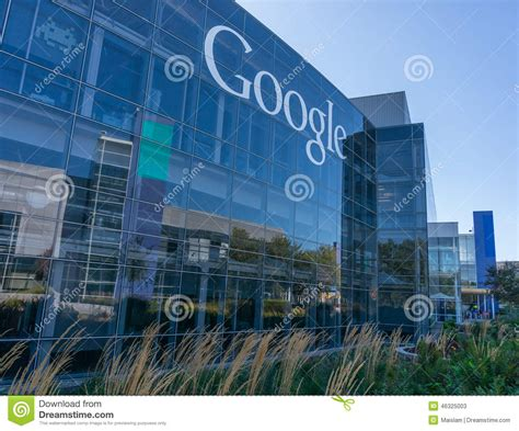 google office in usa exterior view of google office editorial stock photo