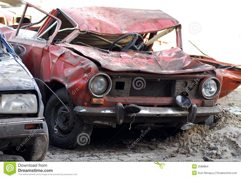 in car demolished cars in junkyard stock images image 2588884