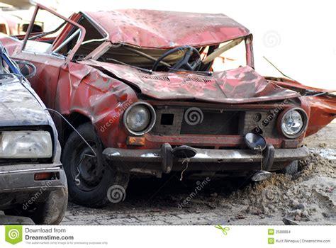 in car demolished cars in junkyard stock images image 2588884