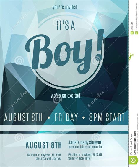 flyer announcement template boy birth announcement flyer template stock vector image