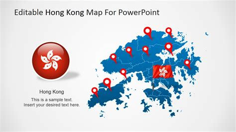Editable Hong Kong Map For Powerpoint Slidemodel Editable Powerpoint Templates