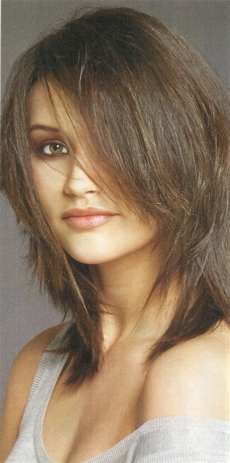 images of shoulder length shag hairstyle medium length choppy haircuts