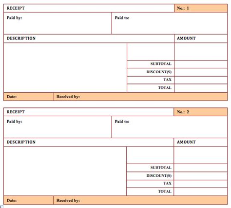 5 Free Hotel Receipt Templates Word Templates Paid Receipt Template
