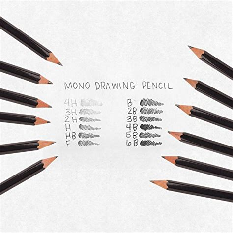 B Drawing Pencil by Mono Professional Drawing Pencil Set 12pcs Assorted