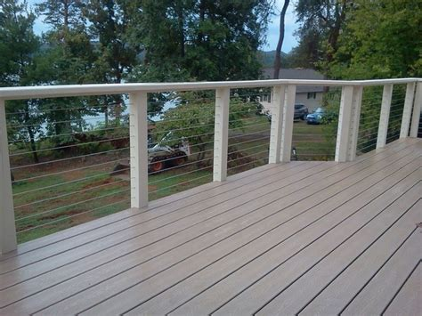 cable railing handrails  decks pinterest