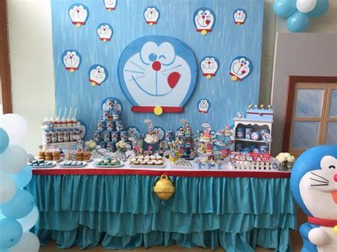 Banner Backdrop Doraemon Ulang Tahun doraemon dessert table doraemon