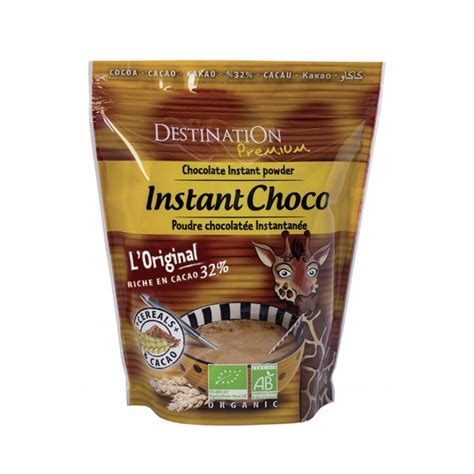 Instant Cereal Chocolate instant chocolate 32 cocoa and cereals destination bio