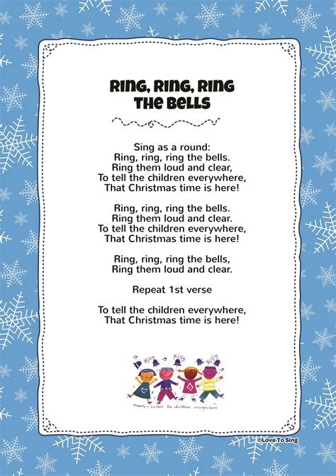 everywhere testo ring ring ring the bells song with free