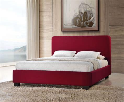 red bed frame corsica red upholstered bed frame