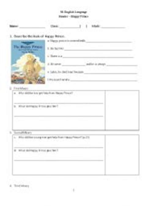 The Happy Prince Worksheets