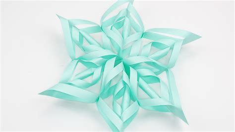 How To Make 3d Snowflakes Out Of Paper - how to make a 3d paper snowflake 12 steps with pictures