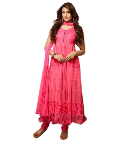 uttam vastra dress materials uttam vastra pink net unstitched dress material buy