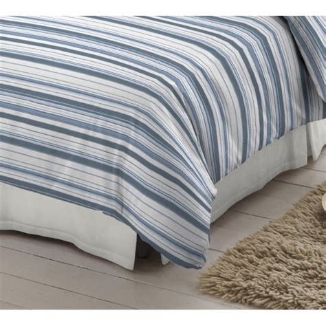 Blue And White Duvet Cover Dormisette Blue And White Striped 100 Brushed Cotton