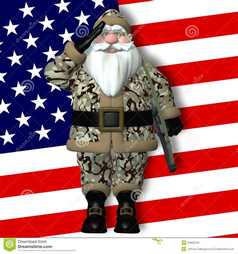 santa claus usa army santa stock illustration image of camouflage 24650159