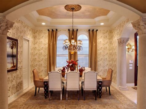 formal dining room design fall color trends hgtv