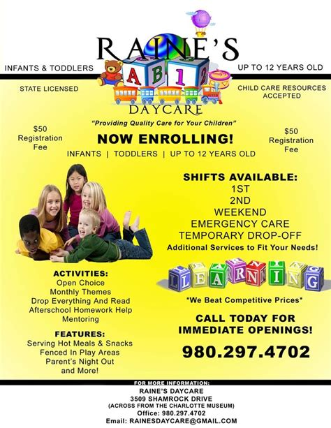 Daycare Open House Flyer Template Yourweek A96e75eca25e Daycare Flyer Template