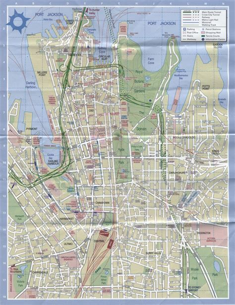 sydney map sydney for tourists map high quality maps of sydney for tourists