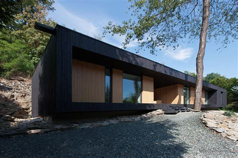 Built On Site Cabins by Timber Cabin Built Into Cliff Side Site Modern House Designs
