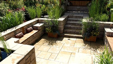Kitchen Designs Layouts Pictures - garden patio designs outdoor with natural exposed stone tiles online meeting rooms