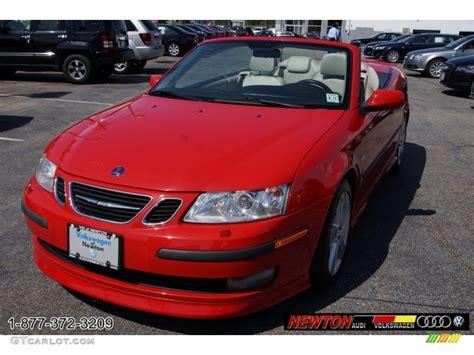 saab convertible red 2007 laser red saab 9 3 aero convertible 66431755
