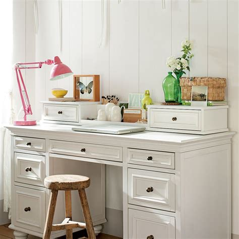white desk for bedroom study space inspiration for teens