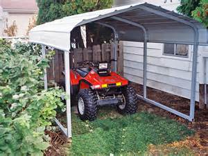 Steel Carport Shelter Rhino Shelter Steel Carport 7x10x6 Free Shipping