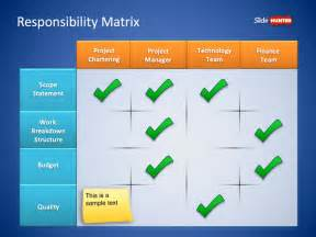 powerpoint matrix template free roles responsibilities matrix powerpoint template