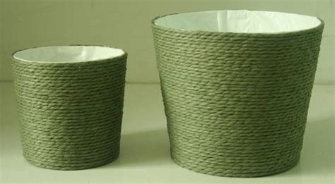 Basket With Paper - paper rope wrapped basket with soft liner id 4760332