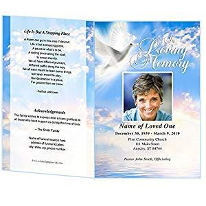 Amazon Com Peace Funeral Program Template Edits In Microsoft Word Publisher Apple Pages Free Funeral Program Template Microsoft Publisher