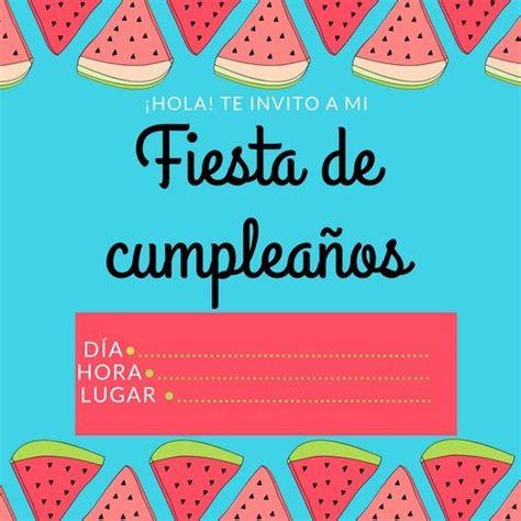 imagenes de invitaciones de cumpleaños bonitas m 225 s de 1000 ideas sobre invitaciones de cumplea 241 os en