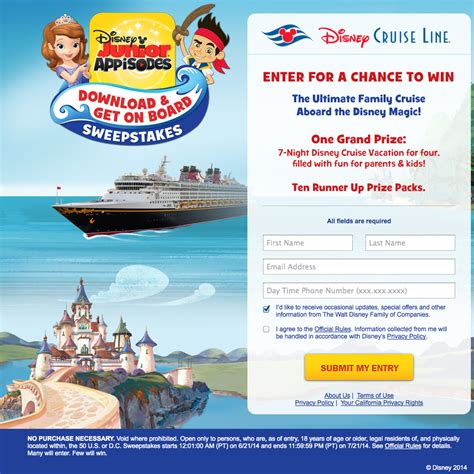 Disney Junior Sweepstakes - win a 7 night disney magic cruise from disney junior s appisodes download get on
