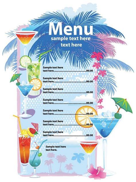 Word Vorlage Cocktailkarte speisekarten und 252 karten vorlagen