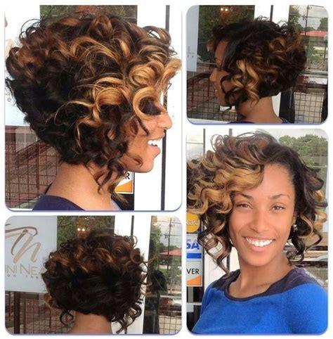 asymmetrical bob using rollers asymmetric haircut with curly hair black women hairstyle