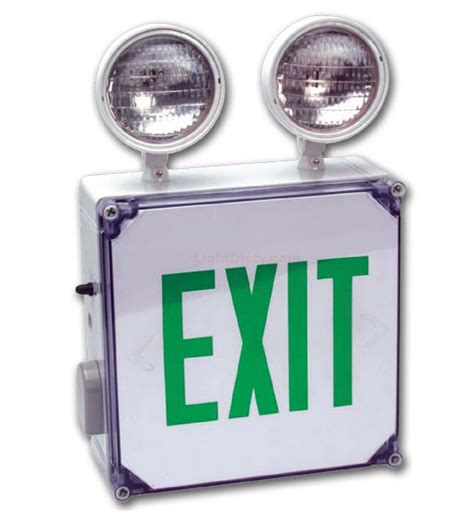 Led Exit Light Bulbs Howard Lighting Hl0229 Location Led Exit Sign Incandescent Emergency Light Combo