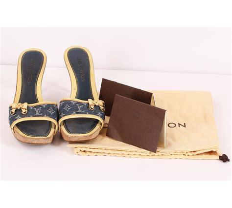Sepatu Louis Vuitton Original authentic louis vuitton denim high heels