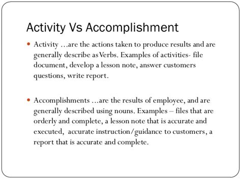 Development Personal Effectiveness Goals And Accomplishments Template